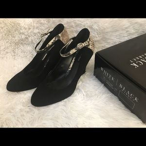 White House Black Market Leather Heels Size 10
